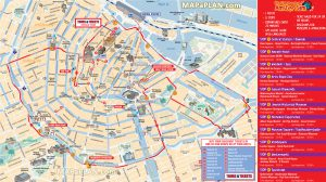 Amsterdam top tourist attractions maps
